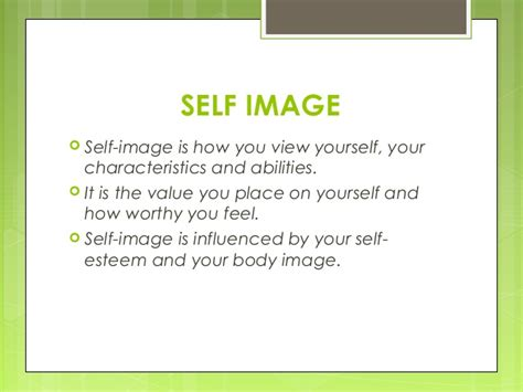 self image self image a positive and negative outlook