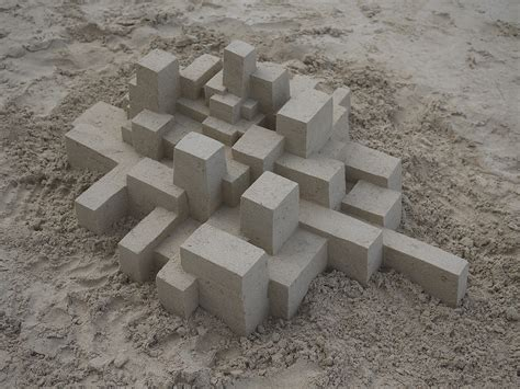 calvin seibert geometric sandcastles from calvin seibert colossal