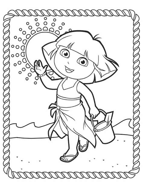 dora backpack coloring pages dora coloring pages backpack diego boots swiper print