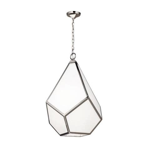 Large Hanging Ceiling Lights Modern Geometric Hanging Ceiling Pendant Light In Opal White Glass
