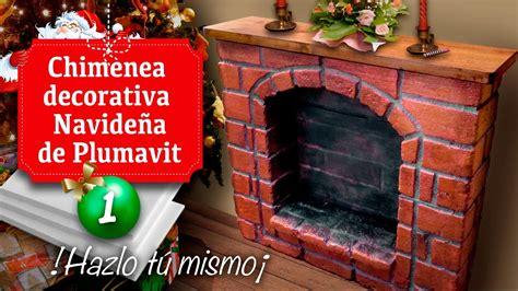 como fabricar una chimenea decorativa chimenea decorativa navide 241 a de plumavit