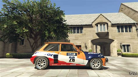 renault turbo rally renault 5 gt turbo rally for gta 5