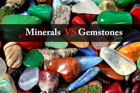 what s the difference between minerals and gemstones