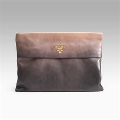 Prada Glace Folder Clutch In The City prada glace folder clutch bag from
