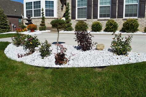 White Marble Indianapolis Decorative Rock Mccarty Mulch White Landscaping Rock