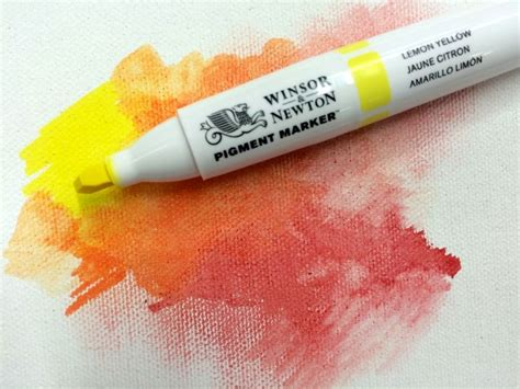 Pigment Marker Paper Size A5 Winsor Newton how to use winsor newton pigment markers on different surfaces canvases paper and