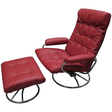 comfortable chair with ottoman comfortable 1960 ekornes stressless lounge with ottoman at