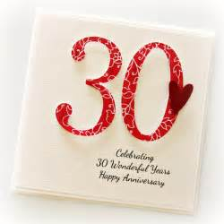 30th anniversary custom card personalised wedding husband pearl the card boutique