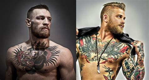 conor mcgregor tattoo dos did conor mcgregor steal his look from a male tattoo model