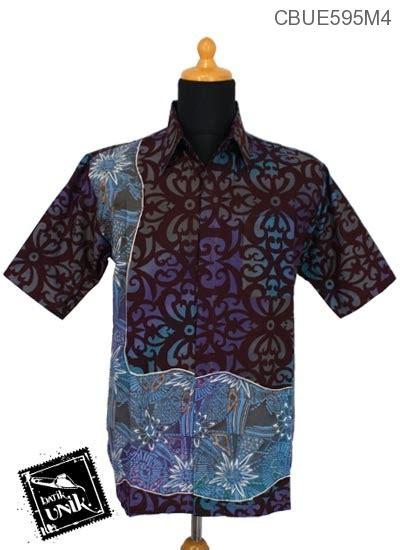 Seragam Hitam Kombinasi Batik Set Celana Kode 920 kemeja batik ekslusive motif abstrak gradasi hitam kemeja lengan pendek murah batikunik