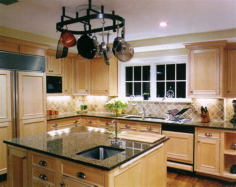 kitchen cabinets with light granite countertops light maple with tile backsplash via google image result