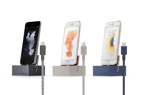 color matched dock lightning weighted charging dock with color