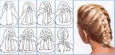 how to i plait my own side hair how to french braid your own hair to the side diagram
