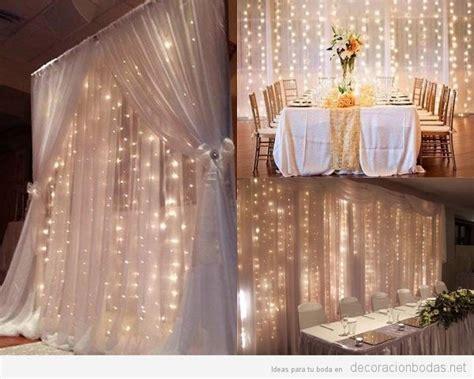 cortinas con luces decoraci 243 n bodas ideas originales para decorar tu boda