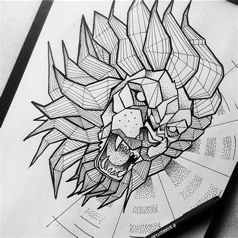 the 25 best geometric lion ideas on pinterest geometric
