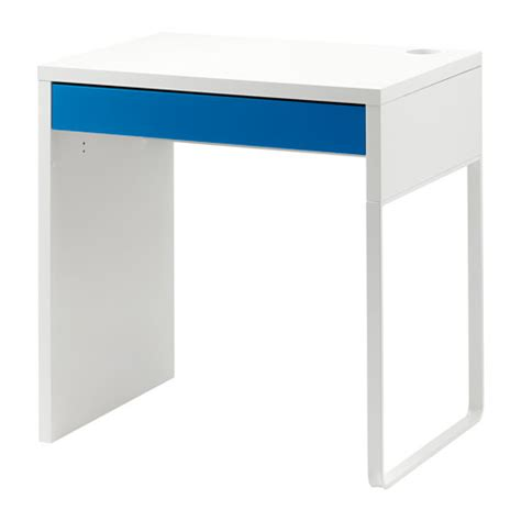 micke desk white blue ikea