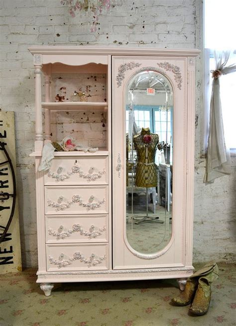 shabby chic armoires painted cottage chic shabby pink french armoire by