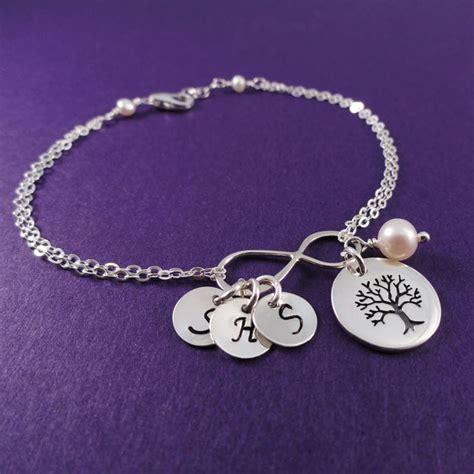 otis b jewelry family tree initial charm bracelet