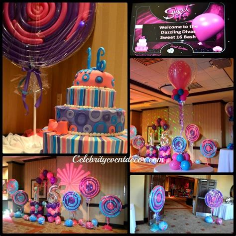 themed sweet 16 decorations themed centerpieces candyland decorations for