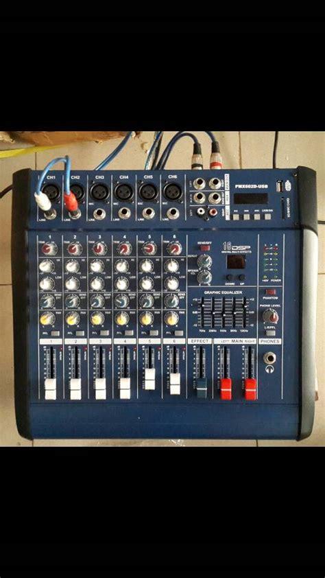Mixer Gede jual power mixer pmx 602d 6 channel sinar sakti