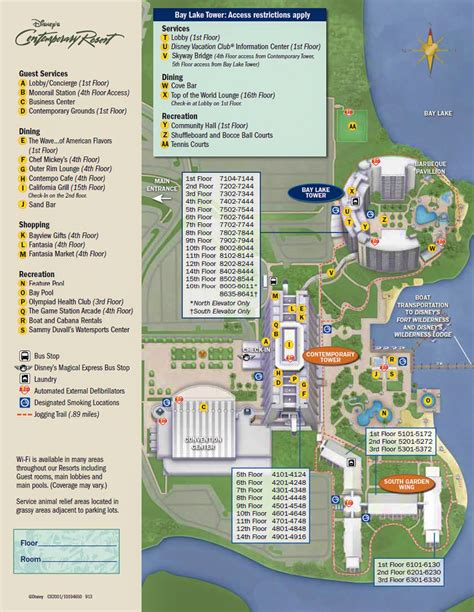 Disneyland Hotel Number Of Floors - resort maps magical distractions