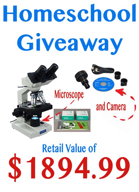 Homeschool Giveaways - win a microscope and camera for back to homeschool 1894 99 value