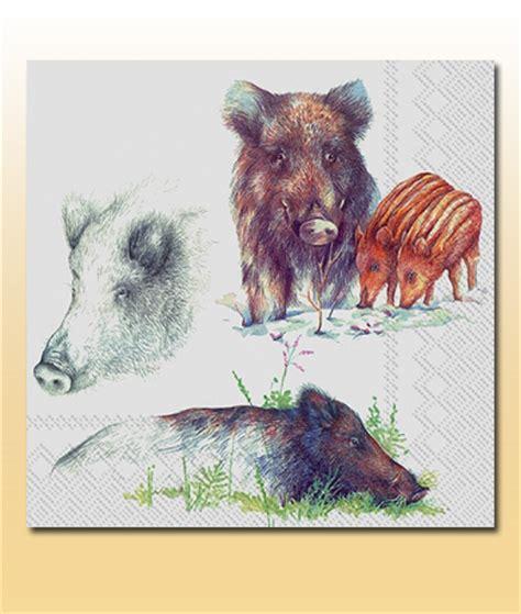 tischdecken mit jagdmotiven serviette quot wildschwein quot 20 stk hirschhornwaren haenel
