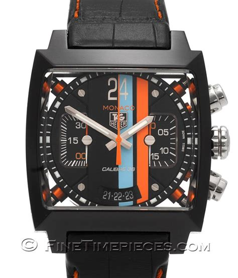 Tagheuer Cal 36 Black tag heuer monaco 24 calibre 36 limited ref cal5110