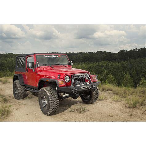 fender flares jeep wrangler tj rugged ridge 11640 30 hurricane flat fender flare kit