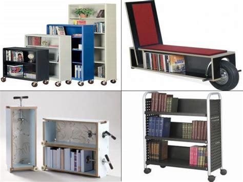 bookshelf on wheels 10 best portable bookshelf designs