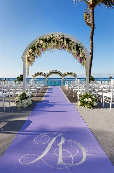 Lavender Wedding Aisle Runner by The Lavender Aisle Runner Features The S Monogram