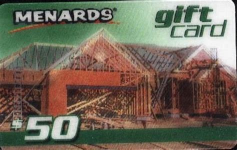 Menards Gift Card - quot menards gift card 50 quot