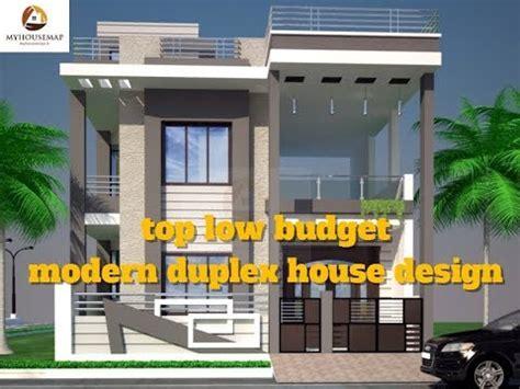 top low budget modern duplex house design best indian