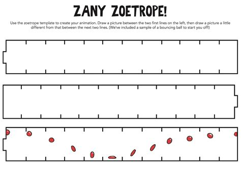 templates for zoetropes printable zany zoetrope template craft ideas pinterest