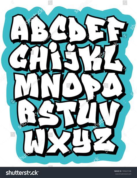 doodle abjad graffiti comic doodle font alphabet vector
