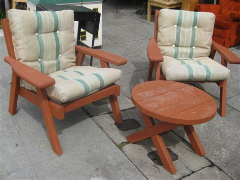 Vintage Redwood Patio Furniture by Uhuru Furniture Collectibles Sold Redwood Patio