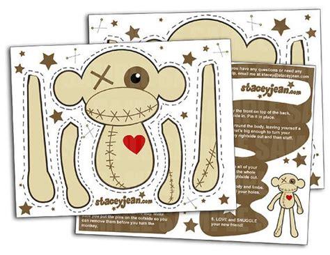 printable paper voodoo dolls voodoo monkey print cut diy doll etsy handmade