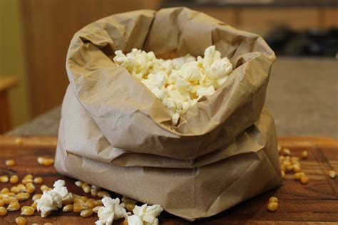 Popcorn In Brown Paper Bag - popping popcorn in a brown paper bag popcorn recipes