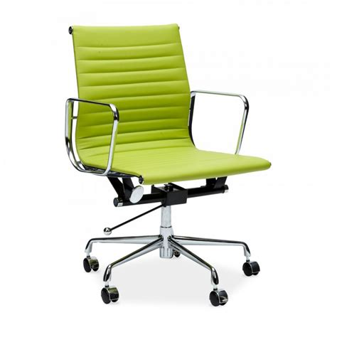 ribbed office chair eames style apple green back ribbed office chair