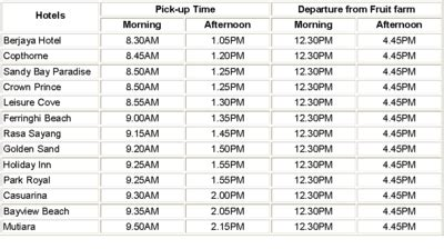 Batu Ferringhi Wikitravel Transportation Schedule Template