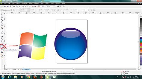membuat efek watermark pada corel cara membuat logo windows vista dengan coreldraw