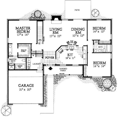 floor plans aflfpw13992 1 story farmhouse home with 4 single story farmhouse style house plans