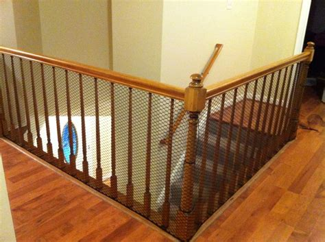 Banister Guard Home Depot by Cheap Way To Child Proof A Stairway With Banisters Which