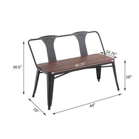 bench black friday outsunny 44 quot 2 seater outdoor patio garden bench brown