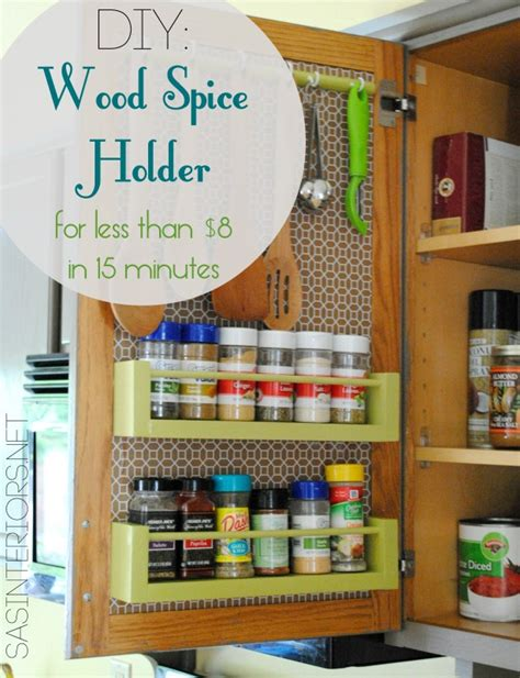 diy vertical spice rack diy wood spice rack burger