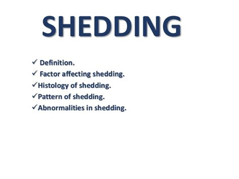 Meaning Of Shedding by Shedding