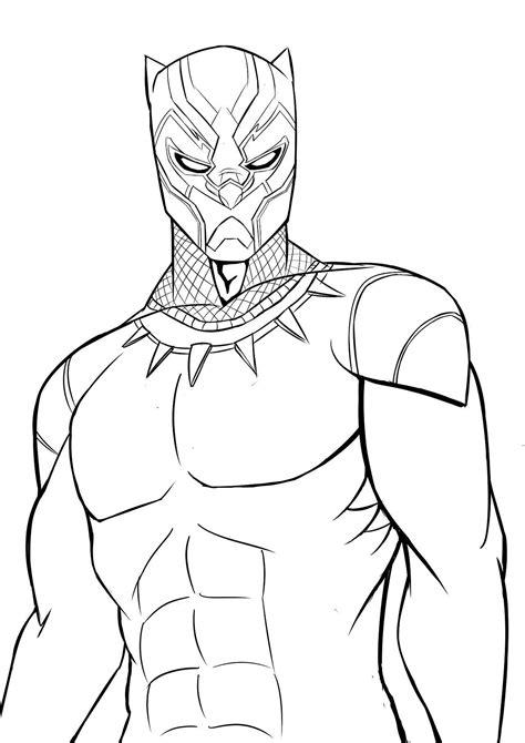 Black Panther (Black & White Art) | Desenhos para colorir