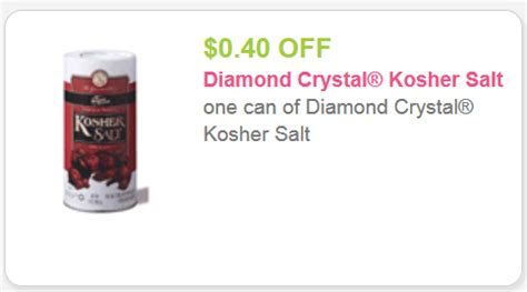 salon ultima coupons diamond crystal kosher salt only 0 59 0 19 for doublers