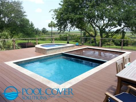 Home Floor Plans Texas wood deck automatic pool cover and spa cover traditional