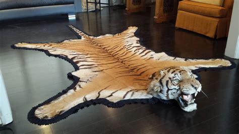 tiger rug for sale antique registered taxidermy tiger rug prior to endangered classification for sale at 1stdibs